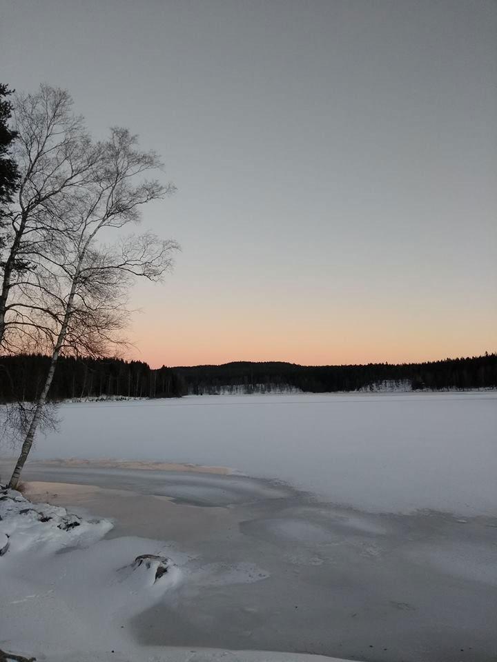 ノルウェーの雪景色