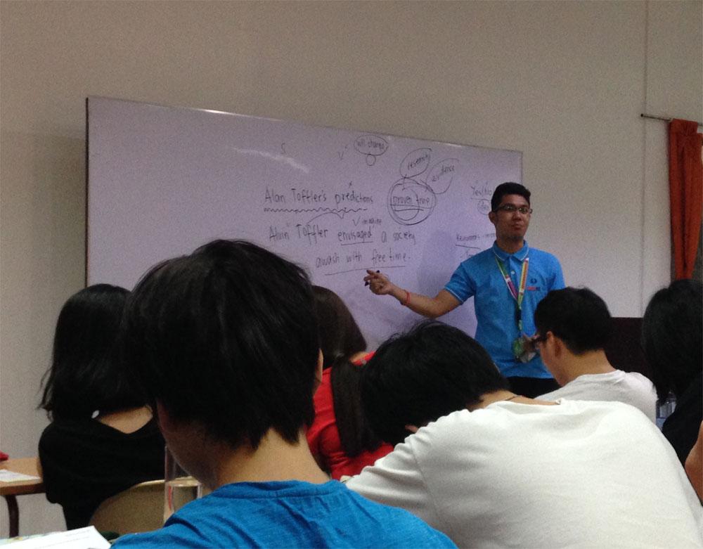 語学学校の授業