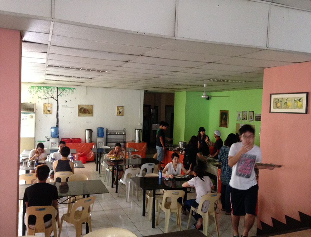語学学校のカフェテリア