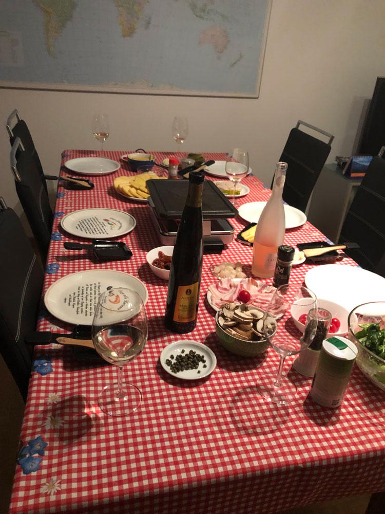 スイスのホームパーティー