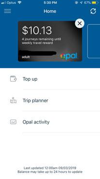 Opal Travelアプリ