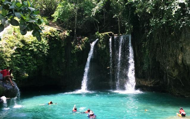 フィリピン セブ島でカワサンの滝観光