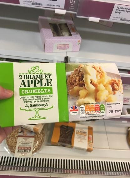 イギリスの食べ物アップルクランブル