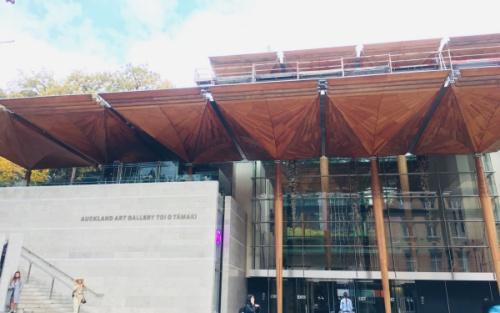ニュージーランドAuckland Art Galleryの入り口