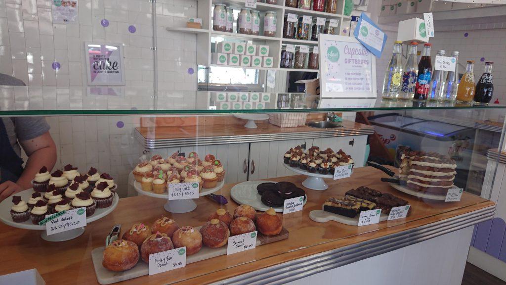 ニュージーランドのカフェSweet Baker and cakeのケーキ