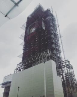 修復中のイギリスのビッグベン