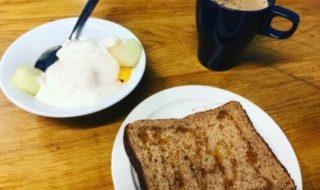 イギリス留学中の朝食