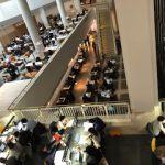 イギリス 大英図書館の閲覧席