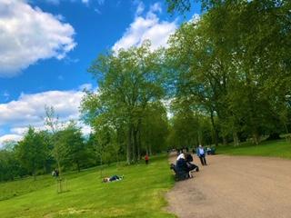 イギリス ケンジントンの公園