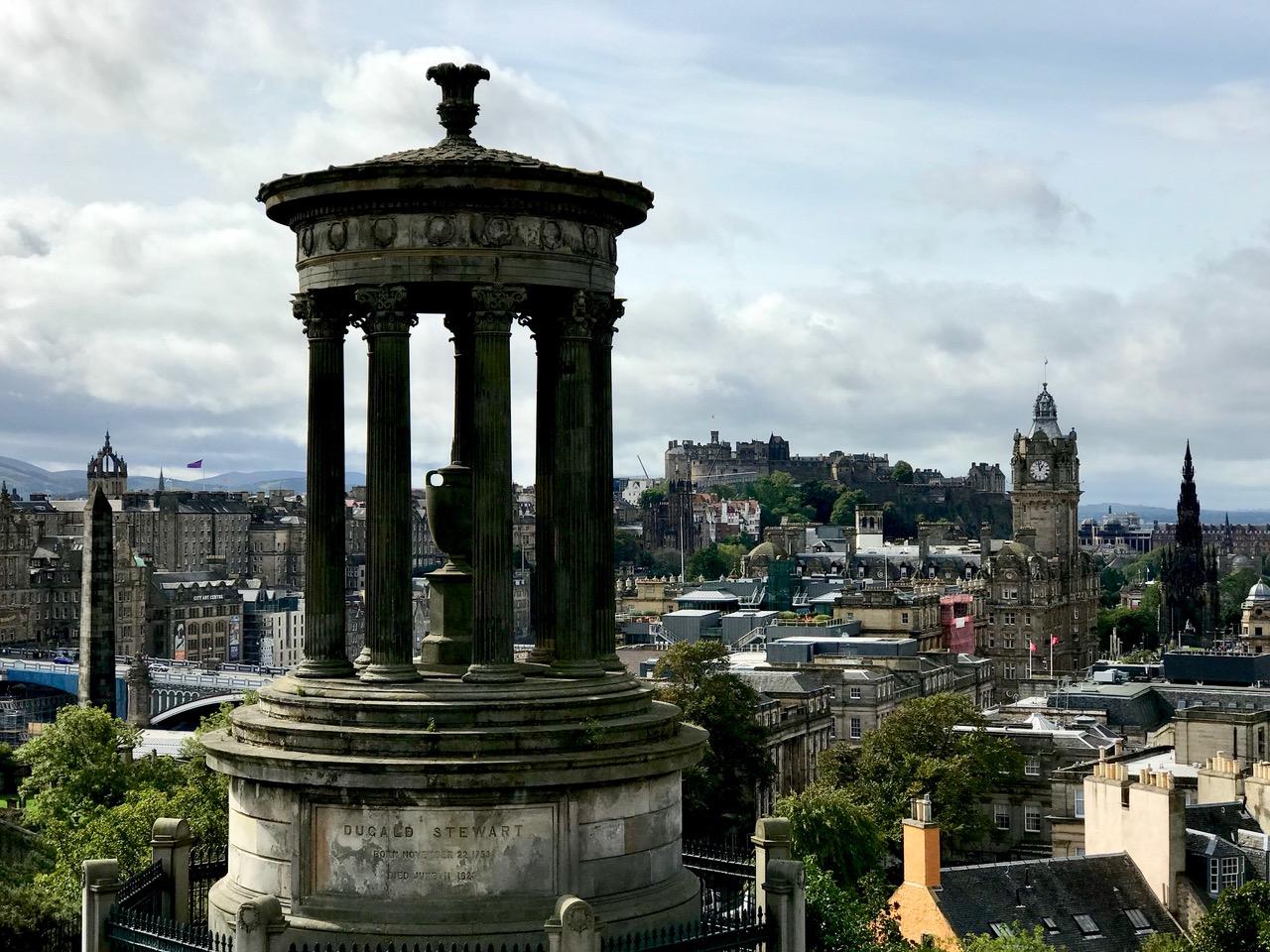 スコットランド エディンバラ カルトン・ヒルから風景