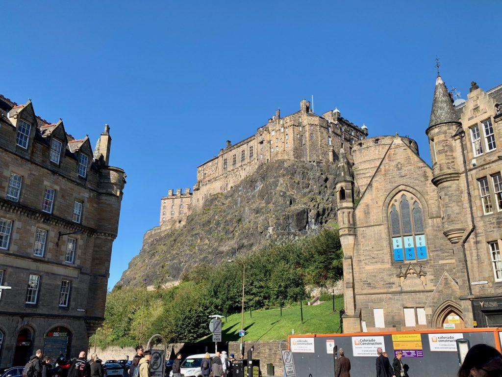 イギリス スコットランドのエディンバラ城