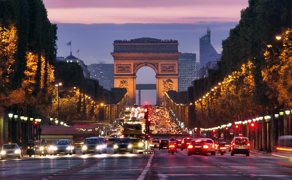 フランス パリの夜景