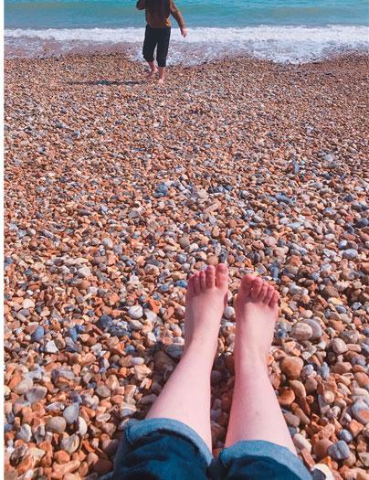 イーストボーンの浜辺