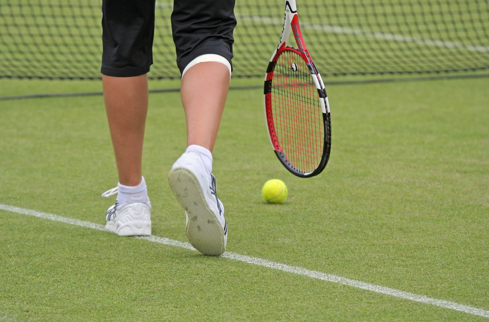 イギリスでテニスの試合観戦