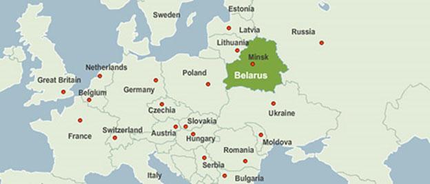 ベラルーシの位置