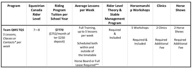 プロを目指すための乗馬プログラム