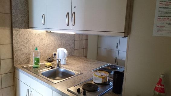 ドイツ ギーセン大学の学生寮のキッチン