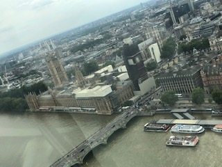 イギリス ロンドンアイからの眺め