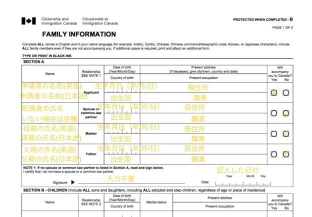 カナダ留学のビザ申請書類