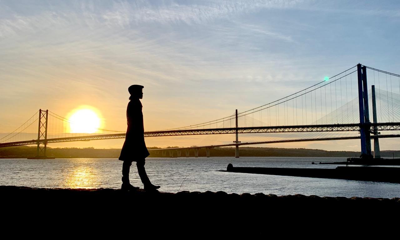 ユネスコ世界遺産の一つ、フォース橋からの眺め