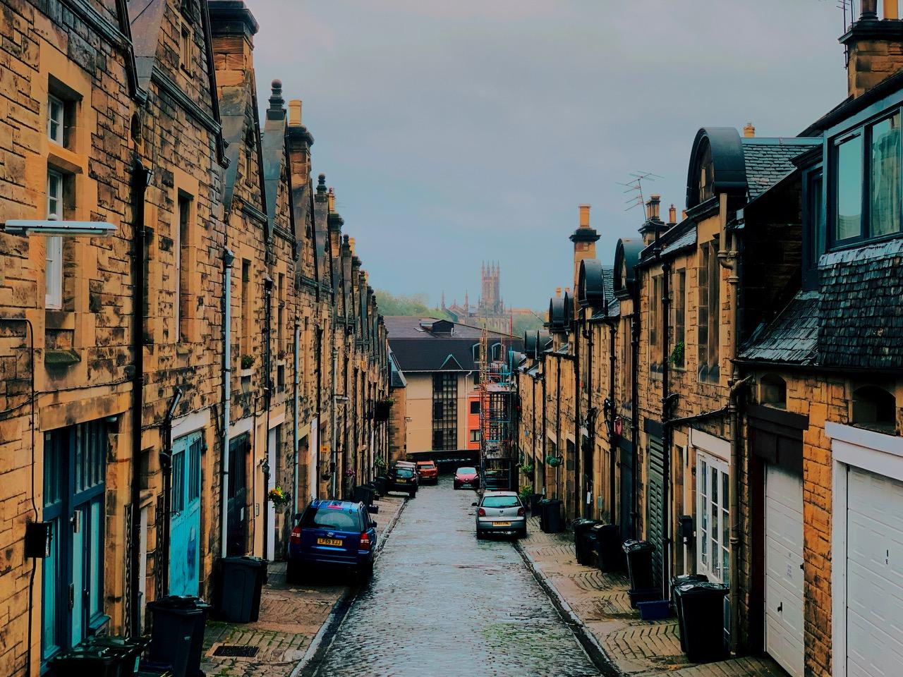イギリス スコットランドの街並み