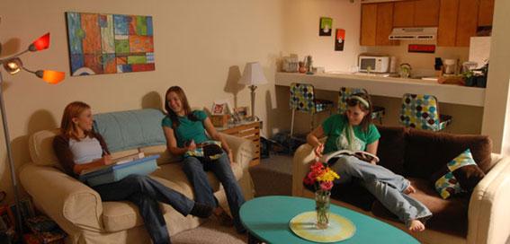 アメリカの大学の学生寮の種類