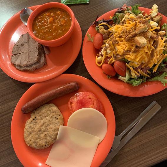 アメリカの大学での食事