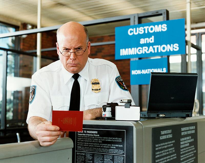 シカゴの空港でのアクシデント