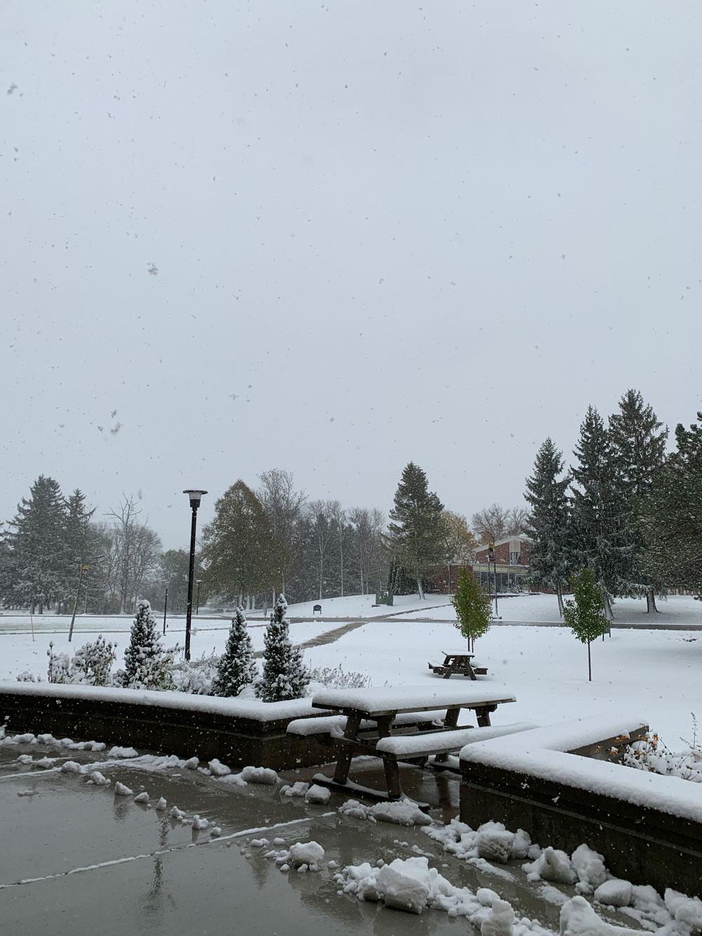 アメリカ ウィスコンシン州ではハロウィーンに初雪!?