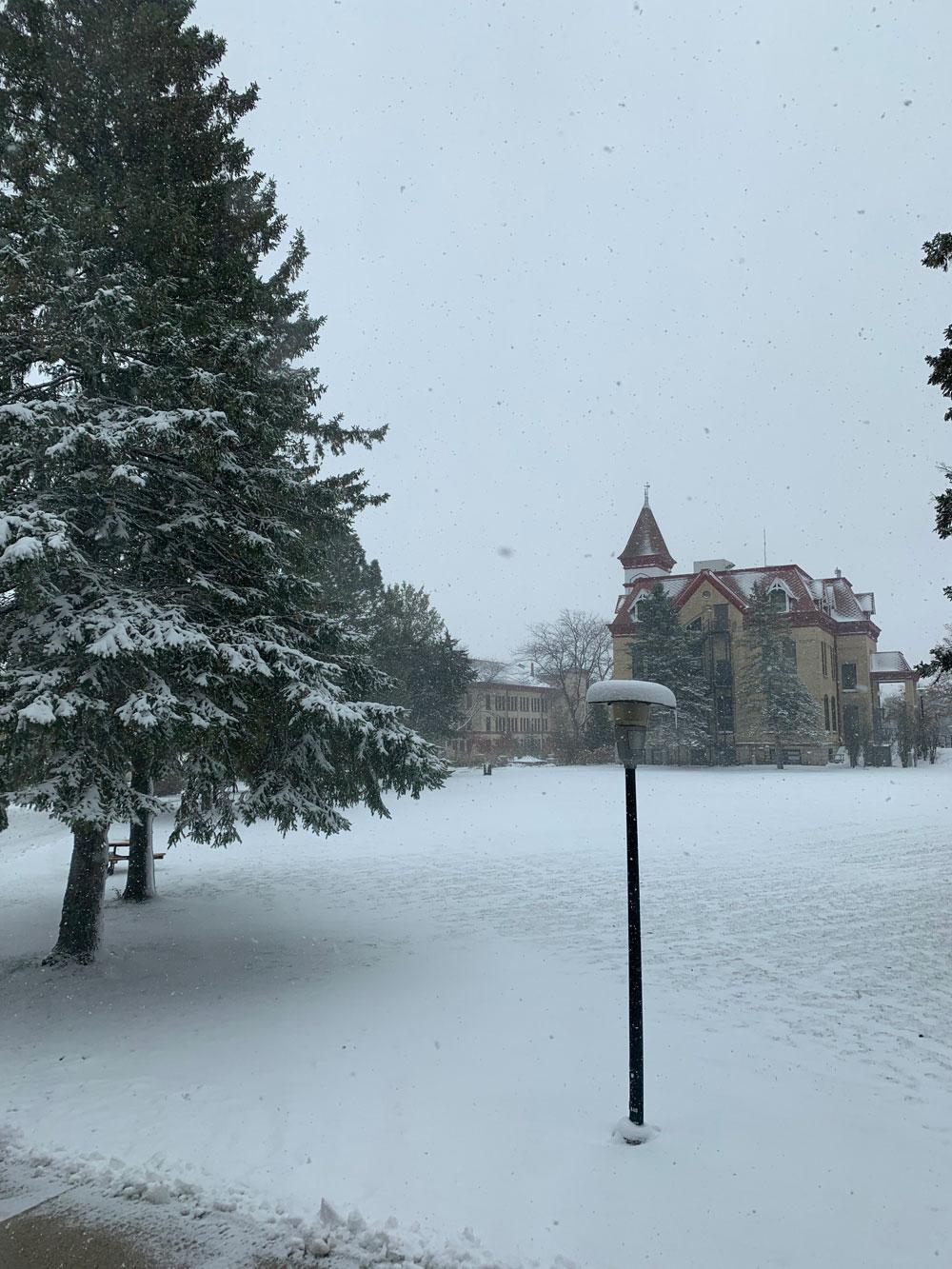 アメリカ ウィスコンシン州の雪景色