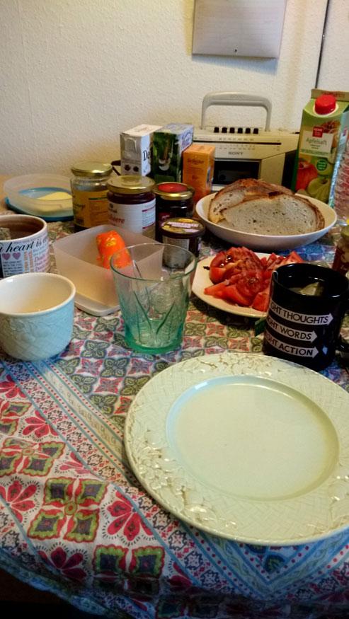 ドイツ留学中の朝食