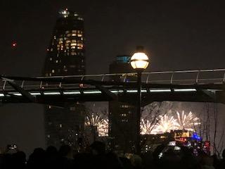 ロンドンの新年のカウントダウン