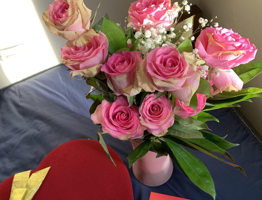 バレンタインにバラのプレゼント