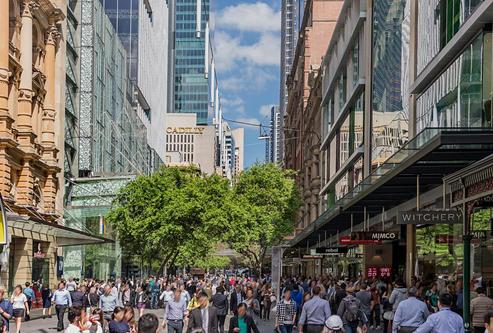 オーストラリア シドニーのピット・ストリート
